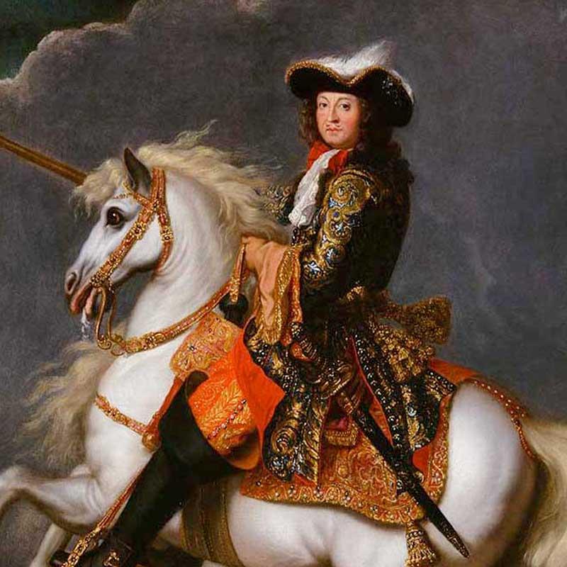 Portrait de Louis XIV à cheval