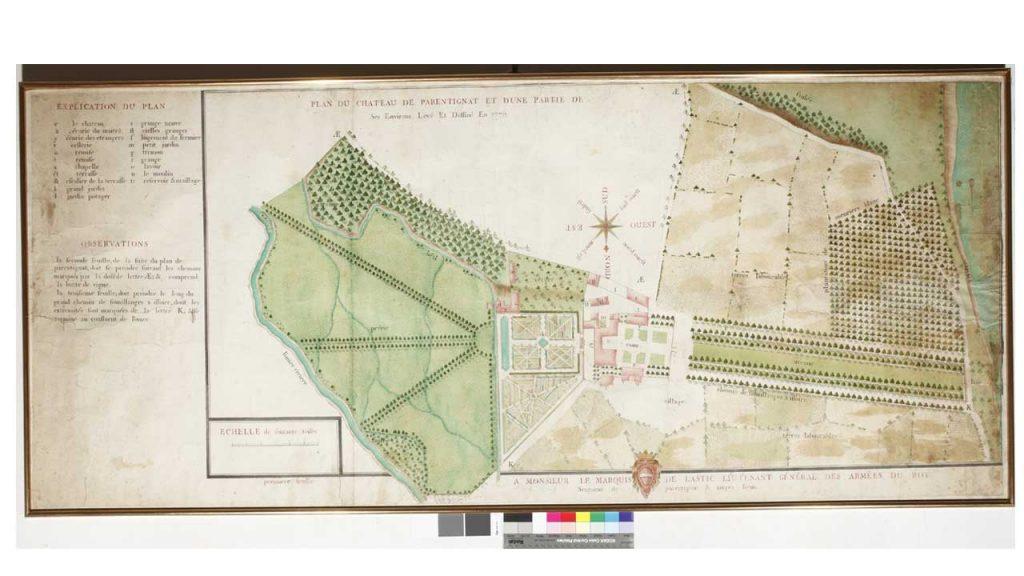 Domaine de Parentignat / Gravure de 1770